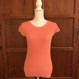 GAP peach short-sleeve sweater